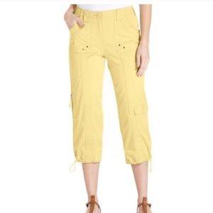 Style & Co Yellow Capri Cargo Pants Size 18